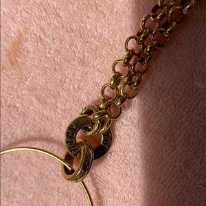 Juicy Couture Jewelry - Juicy couture heart gold long chain link necklace